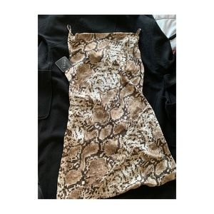Snake skin print satin dress (never worn)